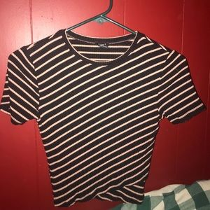 Stripped Black and Tan t shirt